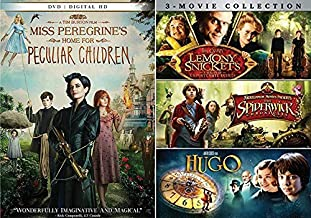 Peculiarly Odd Kids Movie Night Pack: Miss Peregrine's Home For Peculiar Children & Lemony Snicket's A Series Of Unfortunate Events/ The Spiderwick Chronicles/ Hugo (4 Feature Film DVD Bundle)