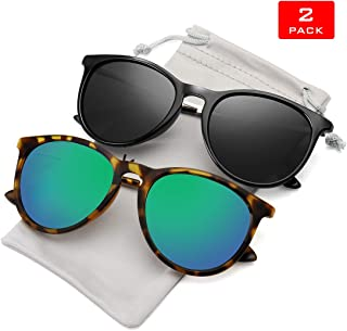 WOWSUN Polarized Sunglasses for Women Vintage Retro Round...