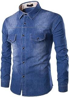 Men Denim Jacket Classic Basic Casual Western Jean Coat Pocket Streetwear Top