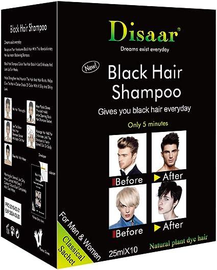 Handfly Champús negros para el cabello Coloración rápida ...