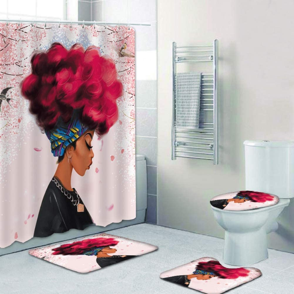 Yehapp 4 Piece Set 3D Digital Printing Max 61% OFF Ranking TOP18 Oil Bathroom Supplies Pai