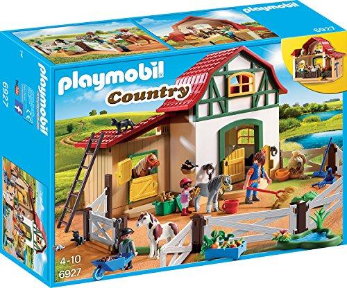 Playmobil Country 6927 Ponyhof mit vielen Tieren und Heuboden, Ab 4 Jahren