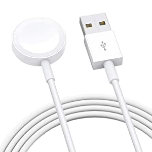 Watch Charger,Wireless Portable Watch Charger, Watch Charging Cable for Watch Series 6 5 4 3 2 1 - White
