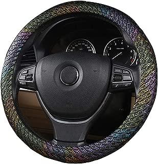 15 Inch Car Styling Steering Wheel Cover Interior Decor Carbon Fiber Sport Cover for X1 X3 X5 X6 E36 E39 E46 E30 E60 E90 E92 Gold