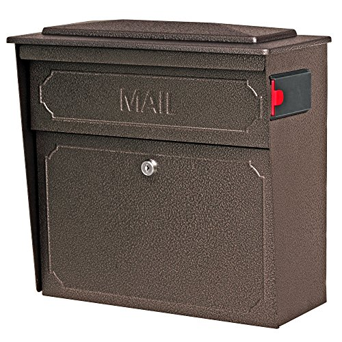 Mail Boss 7174 Townhouse, Bronze Wall Mount Decorative Locking Security Mailbox For Home,Medium