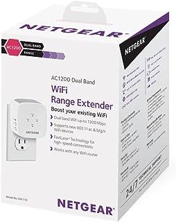 مقوي شبكة الواي فاي بنطاق ثنائي التردد AC1200 بمعيار 802.11ac من نت جير، الرقم المرجعي: EX6110-100UKS، يعزز شبكة الواي فاي...