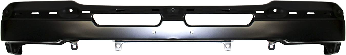 Front Bumper Compatible with 2003-2006 Chevrolet Silverado 1500 Face Bar Powdercoated Black Base/LS/LT/Hybrid Models Inclu...