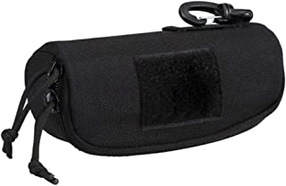 DMAIP Tactical MOLLE Glasses Shockproof Portable Outdoor Sunglasses Case (Black), Large