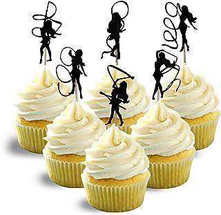 artistic gymnastics Silhouette Cupcake Topper Cardstock 12 per Pack Cupcake