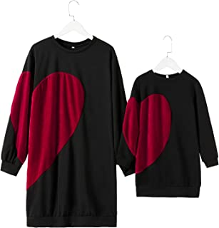 Mommy and Me Outfits Love Heart Valentine's Day Shirt...