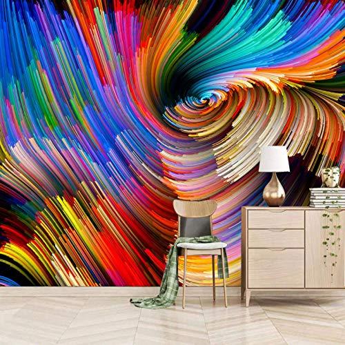 Msrahves Fotomural Vinilo de Pared Color abstracción arte vórtice Fotomurales 3D Pintura Óleo Fotográfico Mural Papel Pintado Fotomurales Salón Dormitorio Decoración de Paredes Moderna Wallpaper