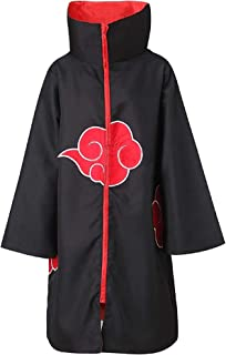 Araonstorm Naruto Unisex Akatsuki Cloud Cosplay Costume Uniform Cloak Hoodie Robe Outerwear