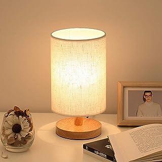 Lámpara de mesita de noche nórdica moderna simple Luz de noche de madera maciza,lámpara de mesa creativa pequeña de carga LED