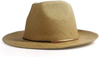 56d824bd1d7d9 Chapeaux Chapeau De Soleil Jazz Chapeau De Panama Chapeau De Paille pour  Hommes (Couleur :