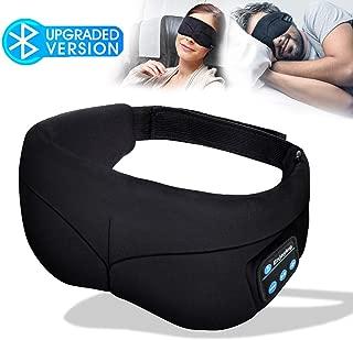 Sleep Mask Headphones, Bluetooth Eye Mask, Headband Headphones with Built -in Speakers, Wireless Headphone for Sleeping, Meditation, Insomnia