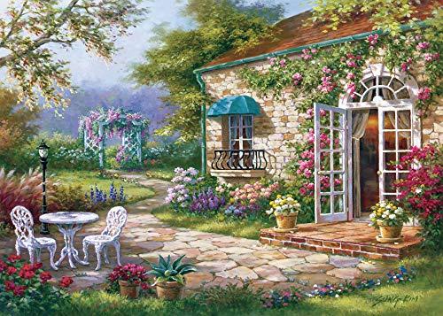EACHHAHA 1000 Piezas Puzzle,jardín Puzzles para Adultos, 70x50CM,Rompecabezas de Piso Juego de Rompecabezas y Juego Familiar