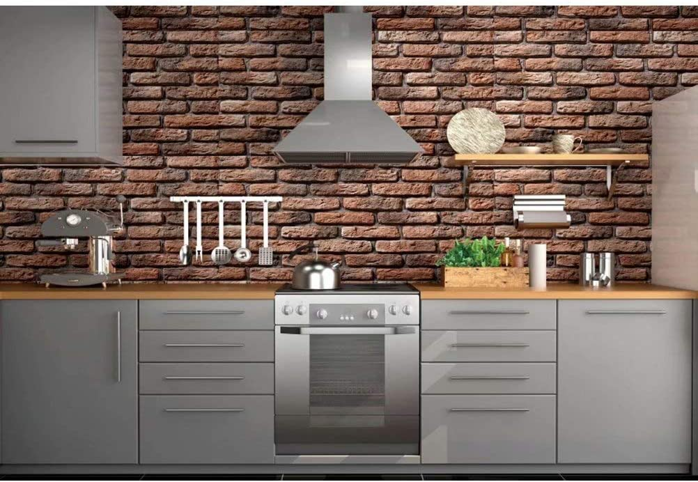 DaShan 14x10ft Modern Kitchen Backdrop Cooking Tools Cupboard Interior Wallpaper Housewives Cooking Party Background for Photography Cooking Show Studio Backdrop Art Protrait Photo Studio Prop