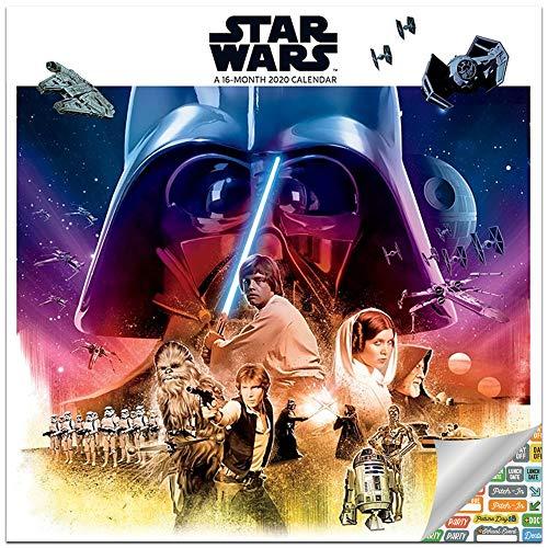 Classic Star Wars Calendar 2020 Set - Deluxe 2020 Star Wars Saga Wall Calendar with Over 100 Calendar Stickers (Star Wars Gifts, Office Supplies)