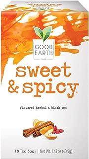 Good Earth Herbal & Black Tea, Sweet & Spicy, 18 Count Tea Bags (Packaging May Vary)
