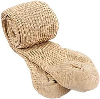 Vanornia Calzamaglie Collant per Neonata Bambina Autunnali Invernali in Cotone Morbido Caldo Calze a Coste Elastiche in Tinta Unita
