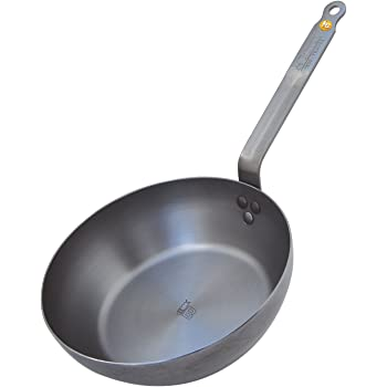 MINERAL B Round Country Chef Carbon Steel Fry Pan 9.5-Inch