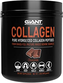 Collagen Peptides - Hydrolyzed Collagen Complete Powder with All Essential Amino Acids, Grass-Fed, Pasture-Raised, Type 1 and Type 3 Collagen Peptides – Chocolate