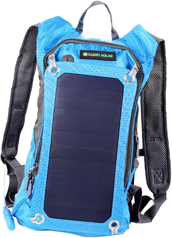 Baosity Waterproof Solar Panel Backpack Outdoor Travel Hiking Trekking Rucksack Bag