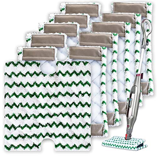 Turbo Microfiber Steam Mop Pads - Pack of 6...