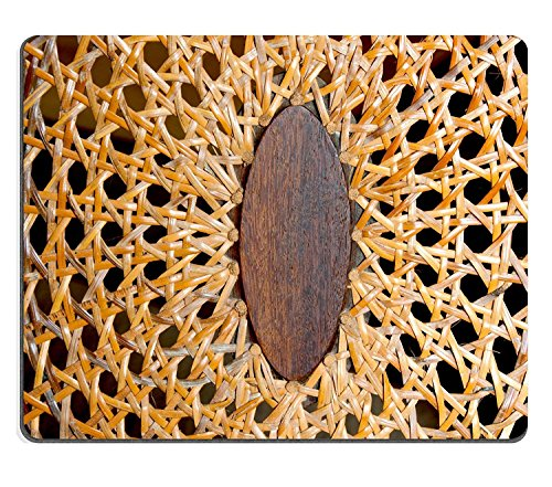 luxlady Naturkautschuk Gaming Mousepads Nahaufnahme von abstrakten Muster und Texturen auf Korbgeflecht Stuhl Bild-ID 25207795