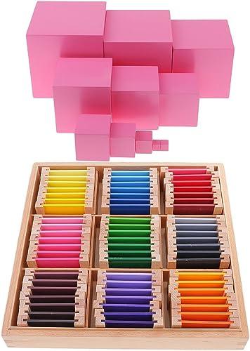 Homyl Montessori Sensorial Bloc Jouet d'enfant Jeux de Bloc Jouet d'imitation Accessoire pour Debutant
