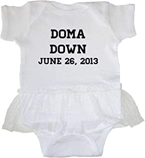 White Print Pride Universe Unisex Baby DOMA Sucks T-Shirt Romper