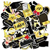 Graduation Sticker, 50Pcs Graduation Stickers Waterproof Decals for Laptops, Vinyl Graduation Stickers for Luggage, Computer, Phone, Water Bottle and Decals