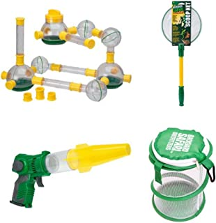 Backyard Safari Lazer Light Bug Vac, Bug Podz, Mini Pop Up Habitat and Scoop Net, Kids Learning Toys Gift Bundle, Science and Adventure, Educational Games and Outdoor Sports