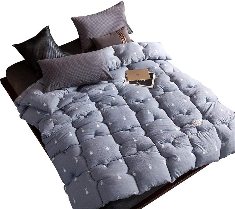 bluee Cotton Quilt Soft for All Season Duvet Insert Quilt White Duvet Quilt All-Season Quilted Comforter Duvet Insert Hypoallergenic