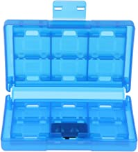 Almencla Game Card Holder for Nintendo Switch, Protective Game Card Case Storage Box Cartridge 24 Slots for Switch Games - Translucent Blue