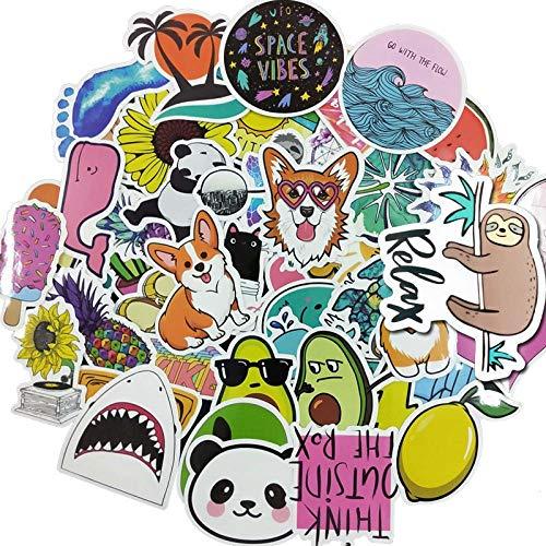Ligoi 50 stks VSCO Meisje Eenvoudige Cartoon Leuke Kawaii Sticker Kinderen Speelgoed Stickers Waterdichte DIY Draagbare Fietshelm Auto Stickers