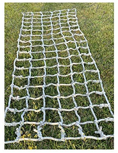 Cargo Netting Climbing,Cargo Net Climbing Rope Netting Playground Kids Outdoor Climb Swing Mesh Safety Heavy Duty Netting Fence Child Rock Climbing Ladder Wall,for Kids Alduts Swingset,14mm,Gray