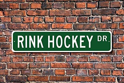 BCTS Rink Hockey Rink - Señal de hockey sobre pista de hockey y hockey sobre pista de hockey sobre pista de hockey para uso al aire libre, letrero de metro de 4 x 16 pulgadas ✅