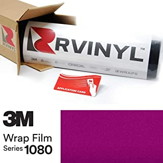 3M 1080 G348 Gloss Fierce Fuchsia 5ft x 1ft W/Application Card Vinyl Vehicle Car Wrap Film Sheet Roll