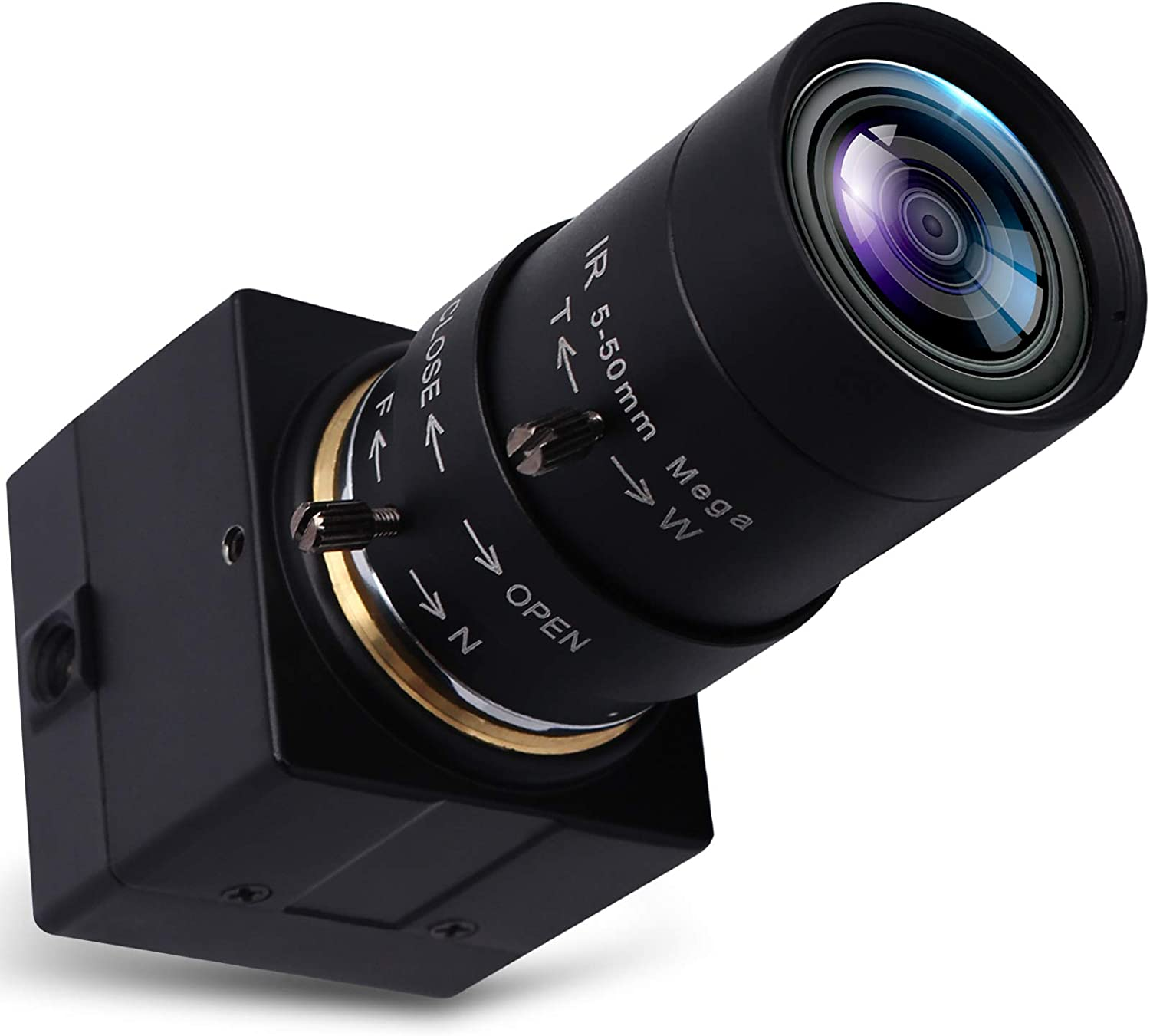 SVPRO Telephoto Webcam Mac Compatible 1MP USB Camera with 5-50mm Optical Zoom Lens Manual Focus Webcam UVC PC Cam for Windows Linux Android MAC,1280x720 USB2.0 CMOS Video Camera for Security,Streaming