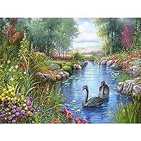 ダイヤモンドアート フル・スクエア風景ラインストーンの写真クロスステッチ絵画モザイクハウス販売風景ダイヤモンド MDYJP (Color : 2, Size : 25X20cm)