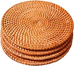 Woven Trivet for Hot Dishes-Insulated Hot Pads,4 Pcs Unique Present for Friends,Housewarming,Birthday,Living Room Decor,Holiday Party, (7.08