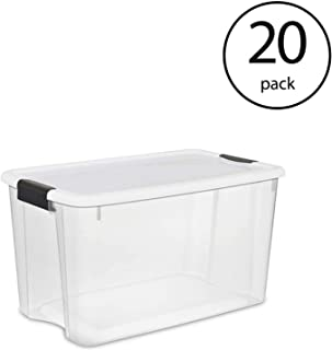 STERILITE 116 Quart Ultra Latching Storage Tote Box Container, Clear (20 Pack)
