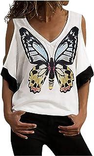 TIFIY Felpe da Donna Pullover Plus Size, Manica Lunga Casual t-Shirt con Paillettes Color Cuore Cappotto Donna Felpa Magli...