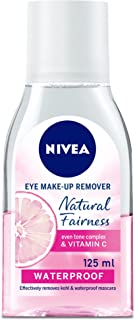 NIVEA Natural Fairness Eye Makeup Remover Even Tone Complex and Vitamin C, 125 ml