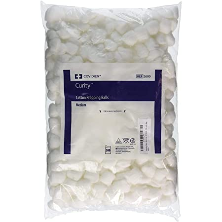 Perfect Stix - Cotton Balls M-500ct Cotton Balls M Cotton Balls, Pack of 500ct, Plain