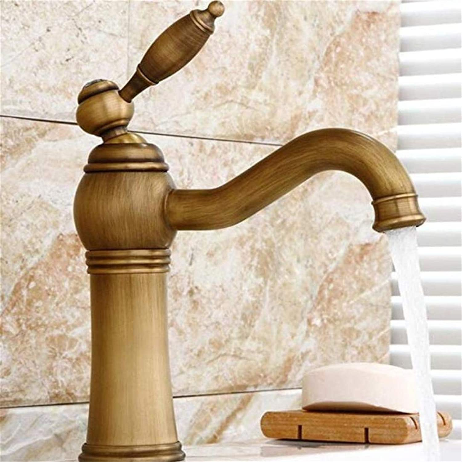 Basin Mixer Sink Taps Basin Mixer Sink Taps Bathroom Kitchen Sink Taps Brass Retro Hot and Cold Water Single Lever Sink Faucet