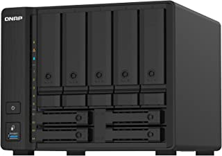 QNAP TS-932PX-4G 9 Bay (5 + 4) Desktop NAS Enclosure - 10GbE SFP+ and 2.5GbE Connectivity - 5 x 3.5-inch Drive Bays & 4 x ...