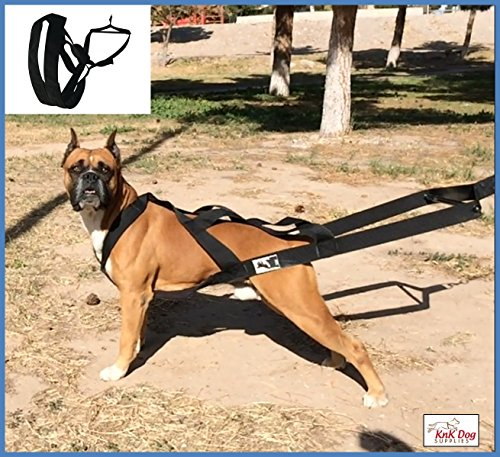 KnK Dog Supplies Big Dog Harness Padded Strong Sturdy Weight Pulling Harness Vest Large Dogs Training Quick Walking Keep Your Dog Amused and in Great Shape by draining accumulated Energy!