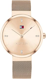 Tommy Hilfiger Women's Carnation Gold Dial Ionic Plated Carnation Gold Steel Watch - 1782218